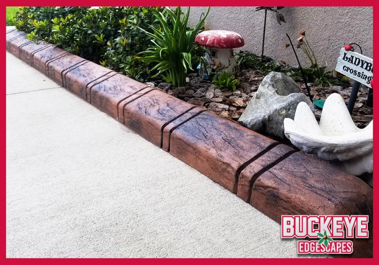 Custom Stamped Curbing - Slate Tile
